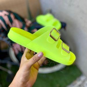 Shoes - Neon Yellow Translucid Matte Slides